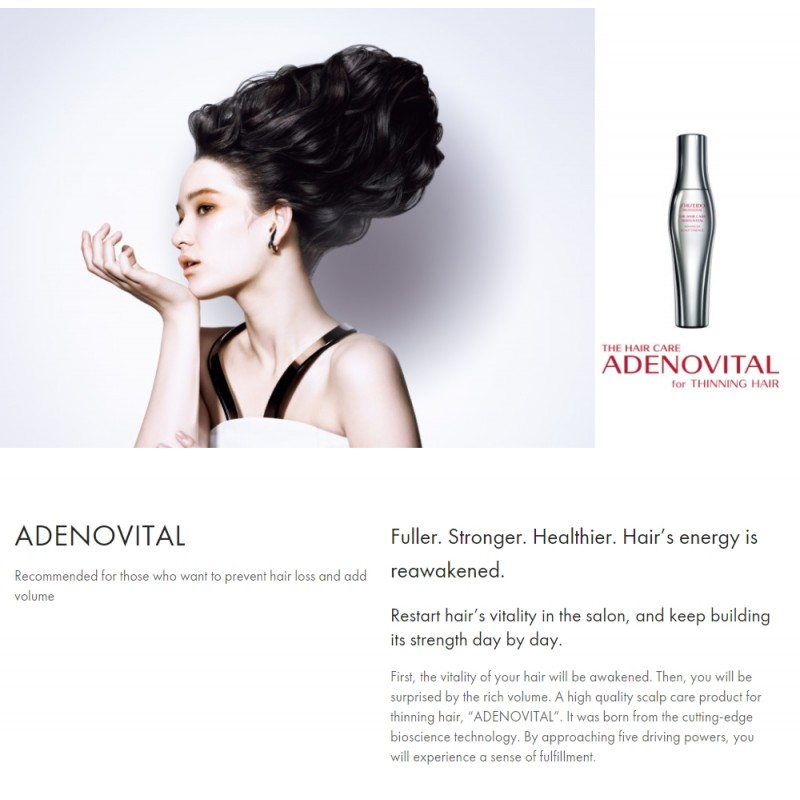 Original Shiseido Professional Adenovital Shampoo 250ML
