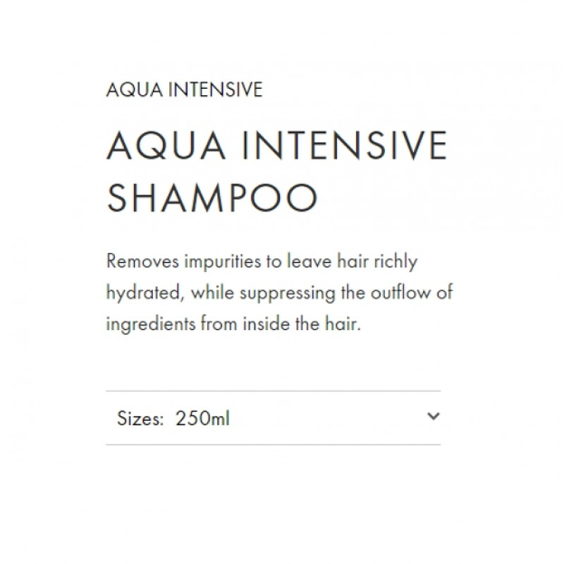 Original Shiseido Professional Sublimic Aqua Intensive Shampoo 250ML for damage hair moisturizing care smooth shiny repair
