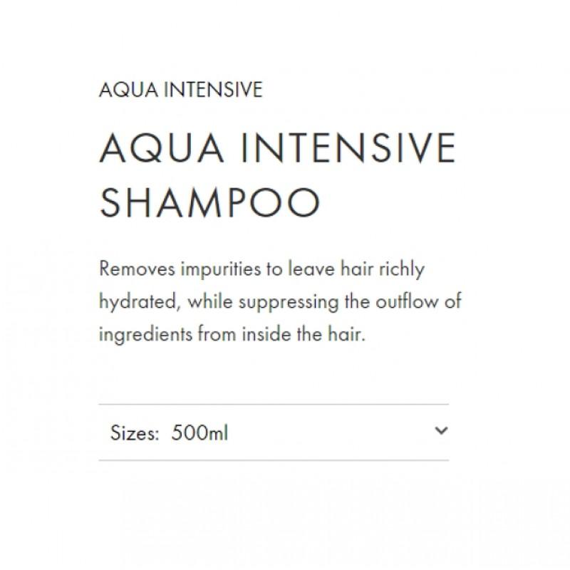 Original Shiseido Professional Sublimic Aqua Intensive Shampoo 500ML for damage hair moisturizing care smooth shiny repair