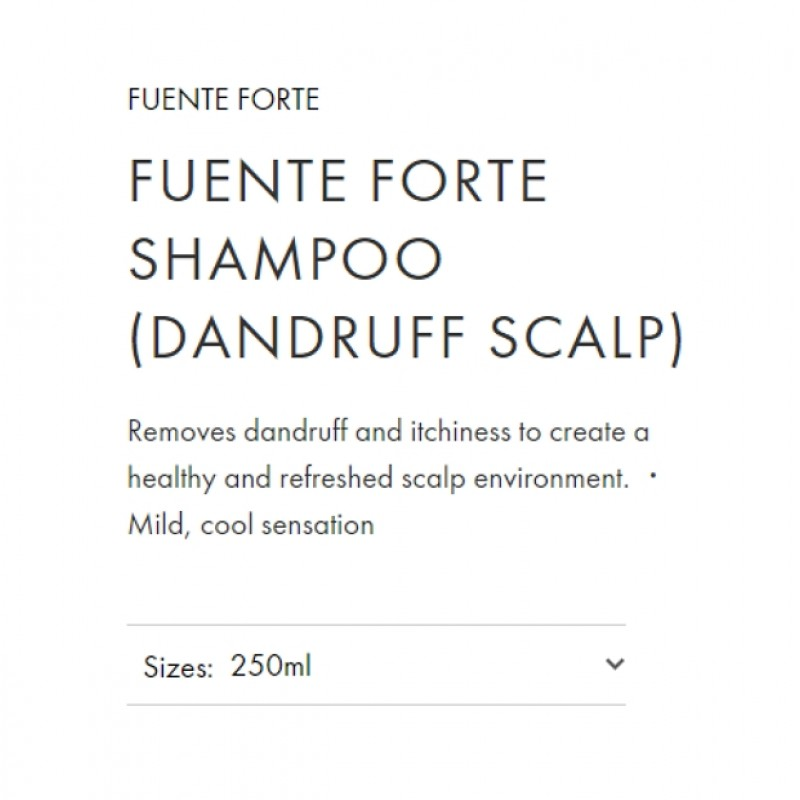 Original Shiseido Professional Sublimic Fuente Forte Shampoo (Dandruff Scalp) 250ml