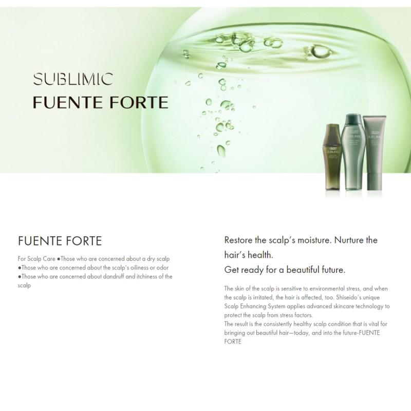 Original Shiseido Professional Sublimic Fuente Forte Clarity Beauty Spa 125ml