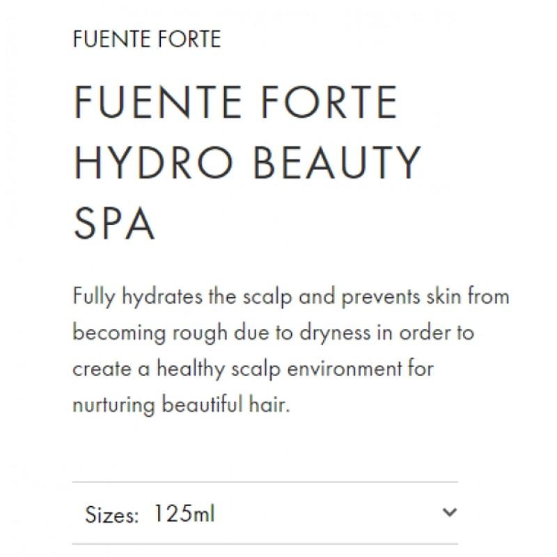 Original Shiseido Professional Sublimic Fuente Forte Hydro Beauty Spa 125ml