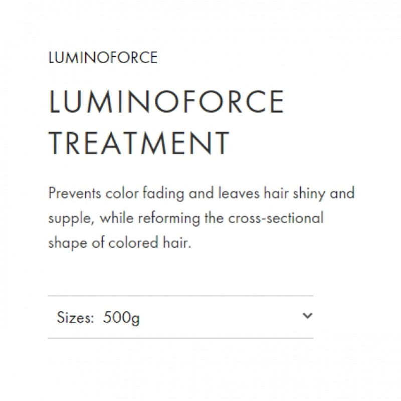 Original Shiseido Professional Sublimic Luminoforce Treatment 500ml