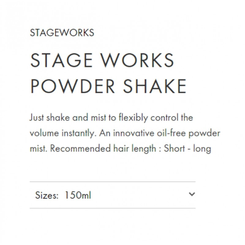 Original Shiseido Professional Stageworks Powder Shake 150ML