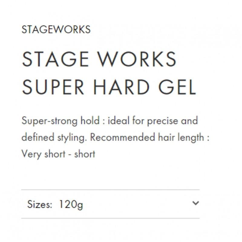 Original Shiseido Professional Stageworks Super Hard Gel 120G