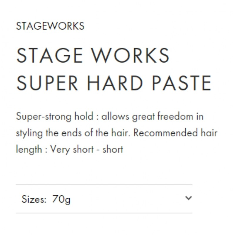 Original Shiseido Professional Stageworks Super Hard Paste 70G