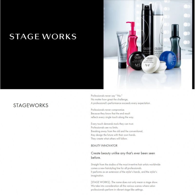 Original Shiseido Professional Stageworks Air Feel Motion 195G