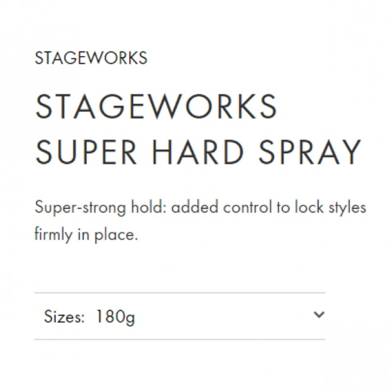 Original Shiseido Professional Stageworks Super Hard Spray 180G